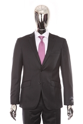 Berragamo - REDA | Modern 2-Piece Notch Solid Charcoal Suit