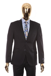 Berragamo - REDA | Modern 2-Piece Notch Solid Navy Suit