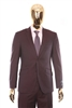 Berragamo - REDA | Modern 2-Piece Notch Solid Plum Suit