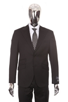 Berragamo - REDA | Modern 2-Piece Peak Solid Black Suit