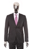 Berragamo - REDA | Slim 2-Piece Notch Solid Charcoal Suit