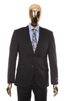 Berragamo - REDA | Slim 2-Piece Notch Solid Navy Suit