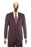 Berragamo - REDA | Slim 2-Piece Notch Solid Plum Suit