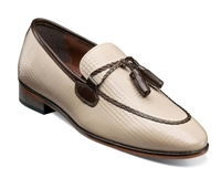 Stacy Adams | BIANCHI - Leather Sole Moc Toe Tassel Slip On - Taupe Multi | Wide