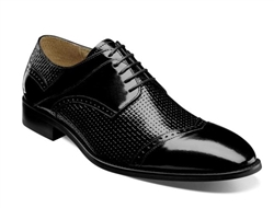 Stacy Adams | VILAS - Cap Toe Oxford - Black