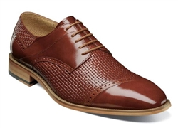 Stacy Adams | VILAS - Cap Toe Oxford - Cognac