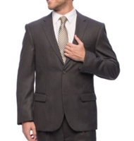 Portly Eisenberg Suit Separates Solid Charcoal Suit