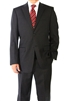 Eisenberg Portly Solid Black Suit