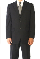 Big & Tall Eisenberg Solid Black Suit