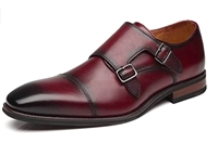 La Milano - Double Monk Strap Cap Toe Leather Oxford