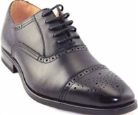 La Milano Cap Toe Oxford Black