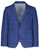 Boy's Navy Plaid Blazer
