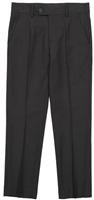 Boy's Black Solid Slacks