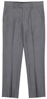 Boy's Charcoal Solid Slacks