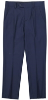 Boy's Navy Solid Slacks