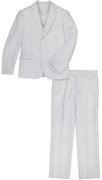 Boy's White Vested Suit