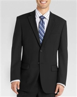 Baroni Herringbone Black Modern Fit Suit