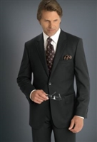 Baroni Herringbone Charcoal Modern Fit Suit