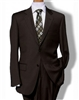 Baroni Stripe Brown Suit Modern Fit