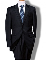 Baroni Stripe Navy Suit Modern Fit