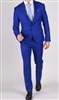 Baroni Solid French Blue Suit Modern Fit