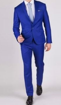 b8fd750e Baroni Solid French Blue Suit Modern Fit