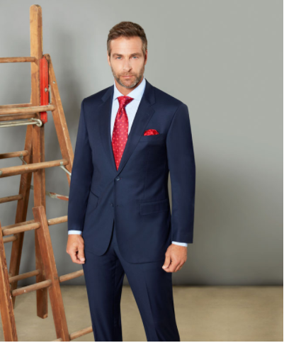 2a771b7a Baroni Solid Blue Suit Modern Fit