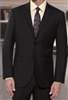 Baroni Solid Black Suit Modern Fit