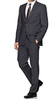 Baroni Solid Charcoal Suit Modern Fit