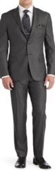 Baroni Solid Medium Grey Suit Modern Fit