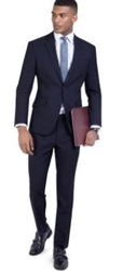 Baroni Solid Navy Suit Modern Fit