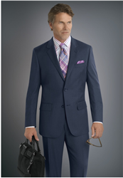 Baroni Sharkskin Blue Suit Modern Fit
