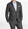 Baroni Sharkskin Charcoal Suit Modern Fit