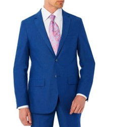 Baroni Sharkskin French Blue Suit Modern Fit