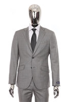 Berragamo Sharkskin Elegant Modern Fit Grey