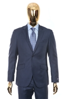 Berragamo Sharkskin Modern Fit New Blue