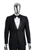 Berragamo Fancy Black Shawl Tuxedo Slim Fit
