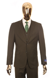 Berragamo Solid Green Modern Fit