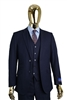 Berragamo Vested Solid Navy  Modern Fit