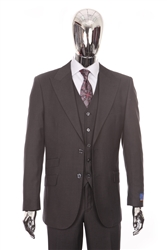 Berragamo Vested Peak Solid Charcoal Modern Fit