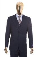 Berragamo Vested Peak Solid New Blue Modern Fit