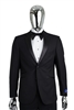 Berragamo Solid Black Notch Tuxedo Modern Fit