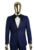 Berragamo Solid New Blue Notch Tuxedo Modern Fit