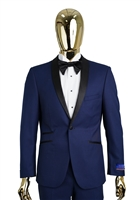 Berragamo New Blue Shawl Tuxedo Slim Fit