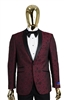 Berragamo Fancy Burgundy Jacket Modern Fit