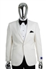 Berragamo Fancy White Jacket Modern Fit