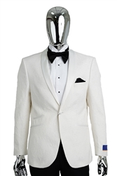 Berragamo Fancy White Jacket Slim Fit