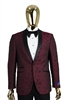 Berragamo Fancy Burgundy Jacket Slim Fit