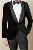 Berragamo Solid Black Velvet Jacket Slim Fit