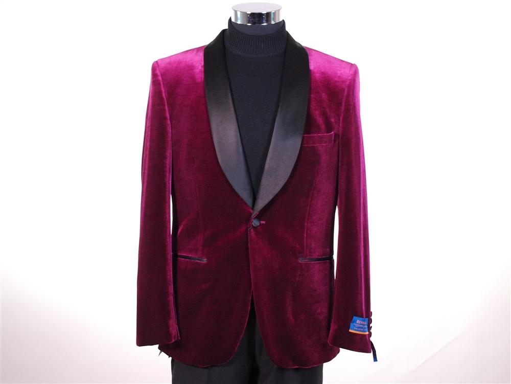 0aff33947207 Berragamo Solid Black Velvet Jacket Slim Fit